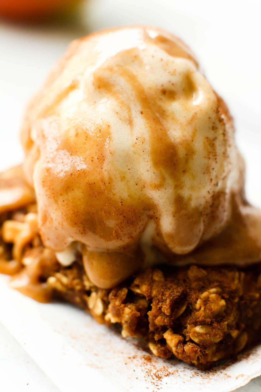 Caramel Apple Pie Bars A La Mode Vegan Gluten Free
