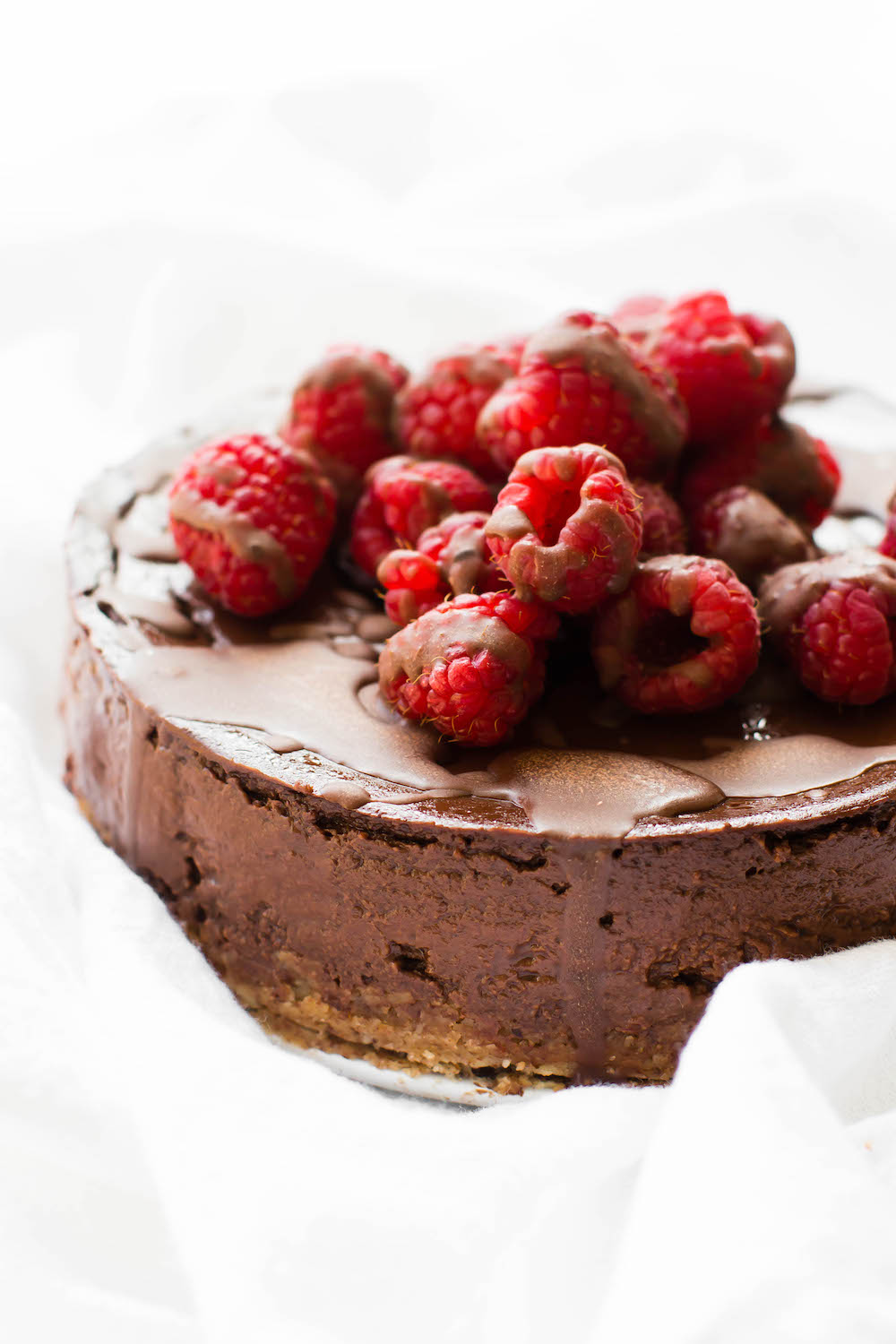 Vegan Low Fat Chocolate Mousse Cake