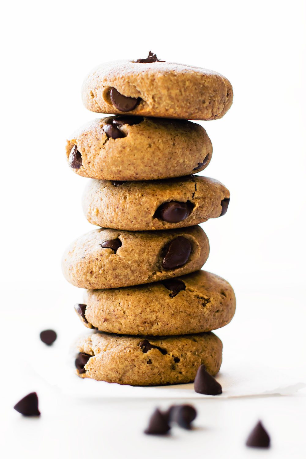 Almond Flour Chocolate Chip Cookies {vegan, paleo, date ...